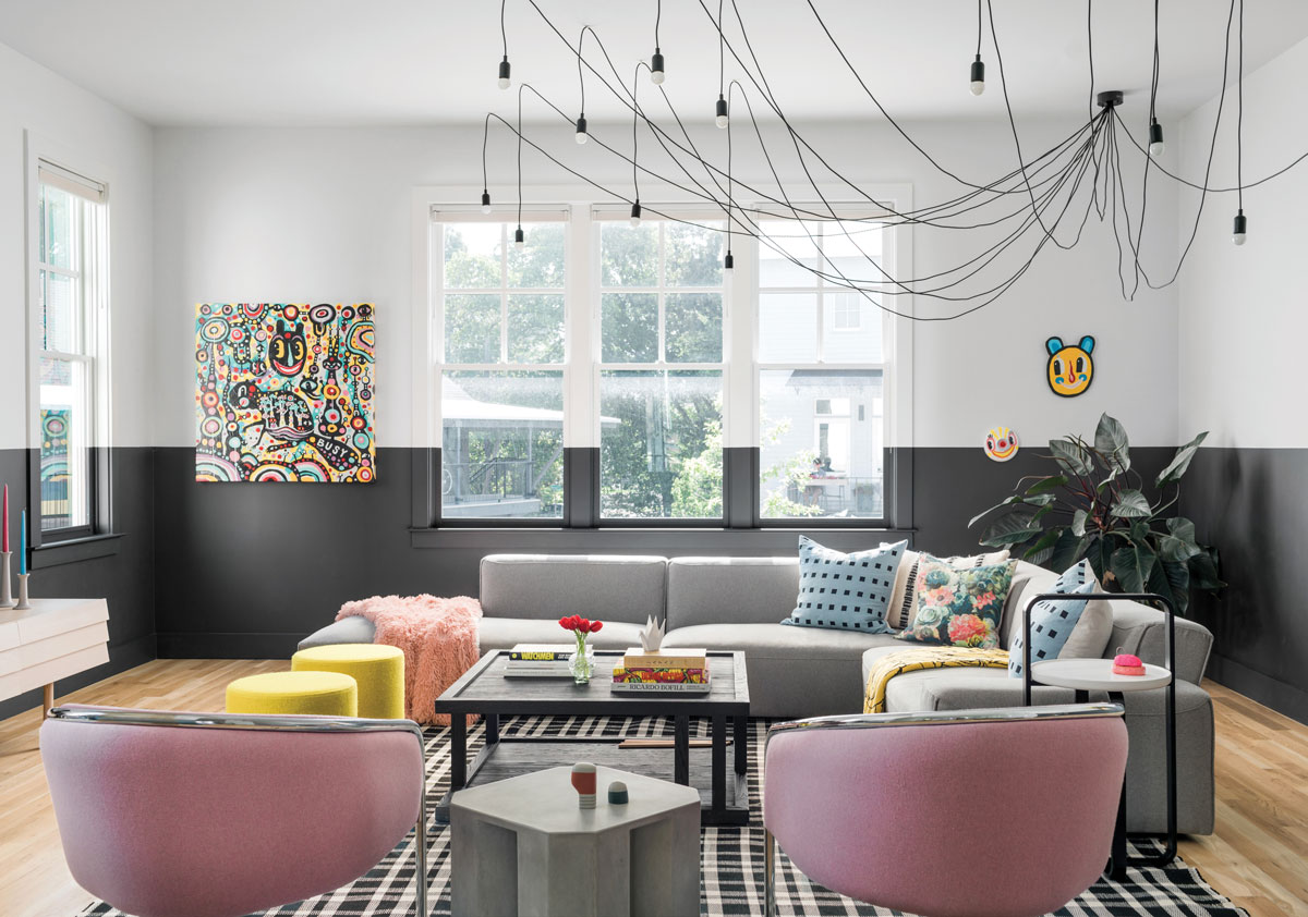 This punk rock–meets–wabi-sabi Reynoldstown townhouse has got game