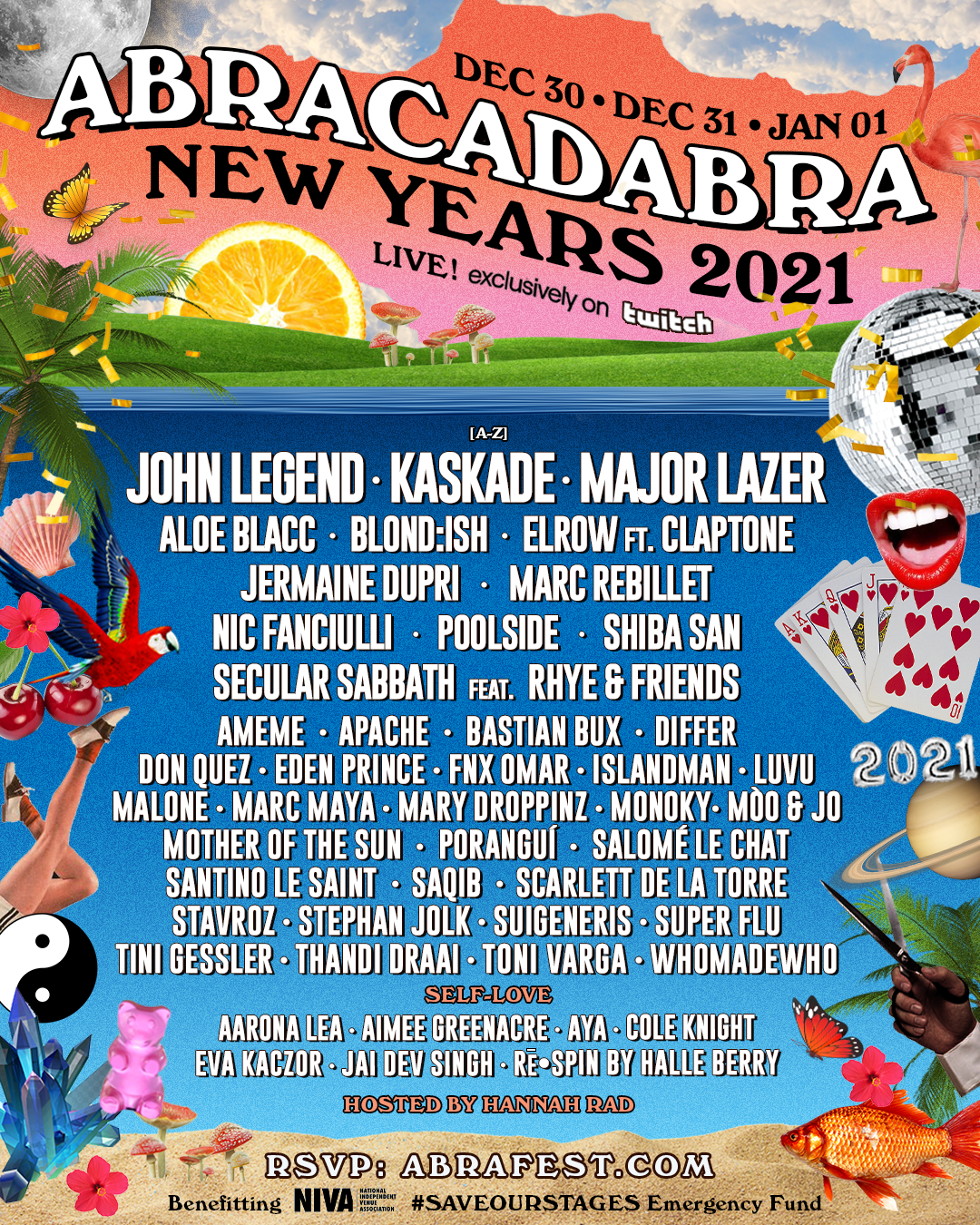 ABRACADABRA Returns to Ring in 2021; Announces Festival Lineup for Three-Day, 24/7 Livestream Dec. 30-Jan. 1 Exclusively on Twitch