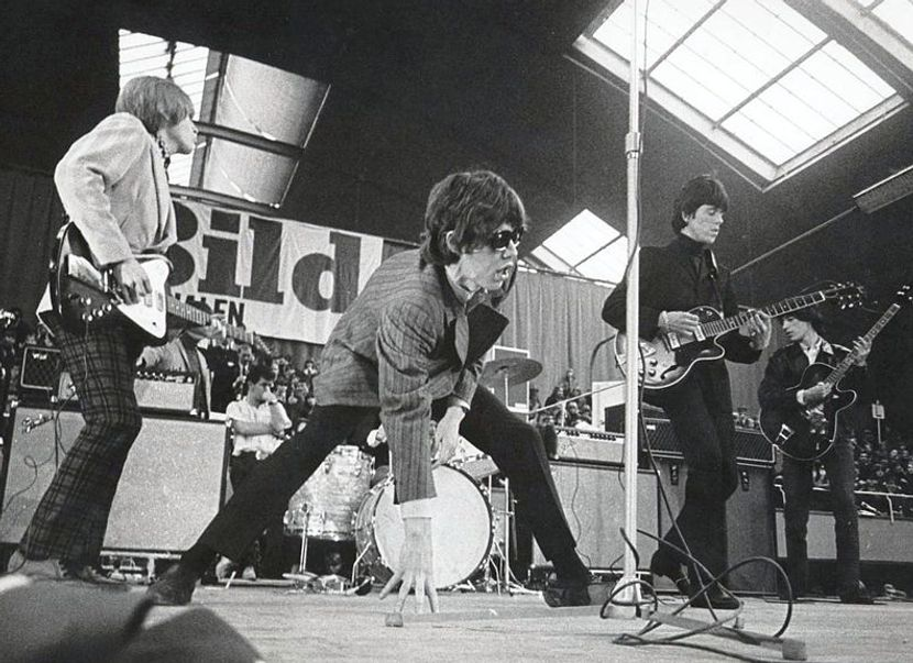 Footage of Jean-Luc Godard filming The Rolling Stones, 1968