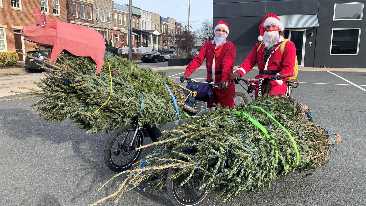 Pork 'N Pine Delivers Christmas Trees And Pulled Pork, Sparking Joy In Baltimore : NPR