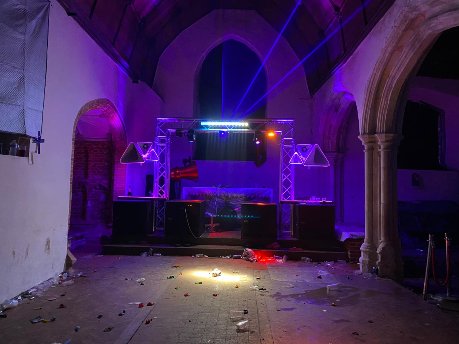 Three arrested after New Year's Eve party leaves 500-year-old church trashed