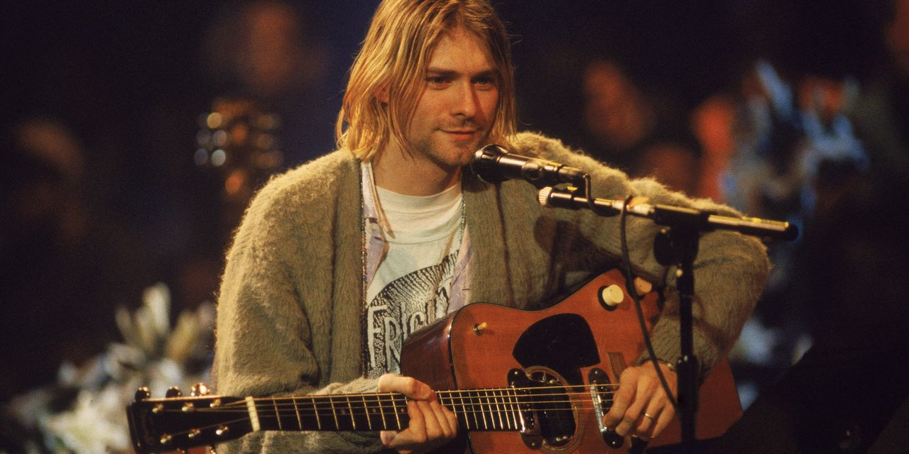 Why Kurt Cobain's '90s Cardigan Is Trending as WFH Style