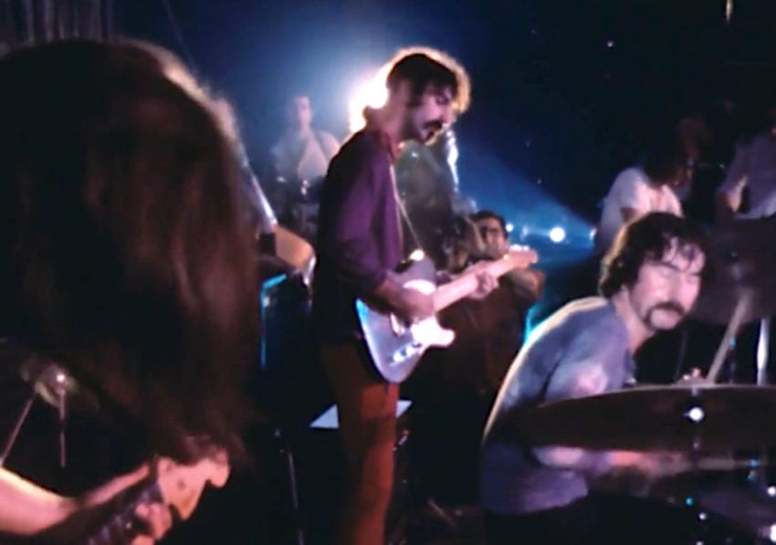 Footage of the moment Frank Zappa performed with Pink Floyd