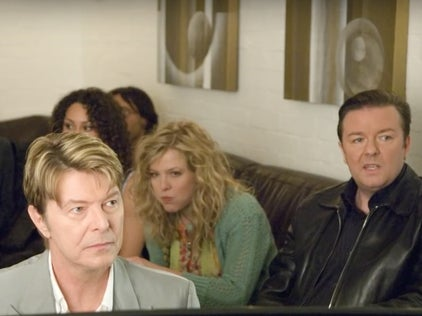 Ricky Gervais recalls meeting David Bowie for the first time