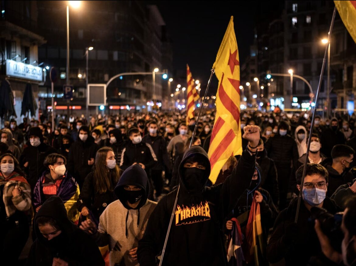Spain sees fourth night of unrest over imprisonment of rapper