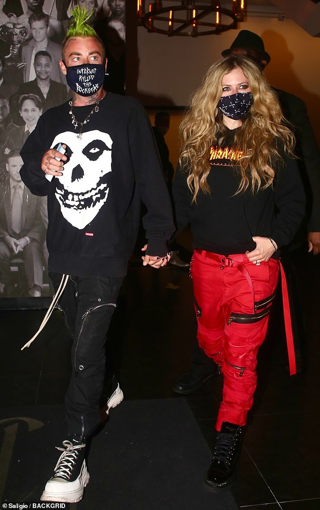 Avril Lavigne puts on a punk display as she cozies up to new beau Mod Sun for date in West Hollywood