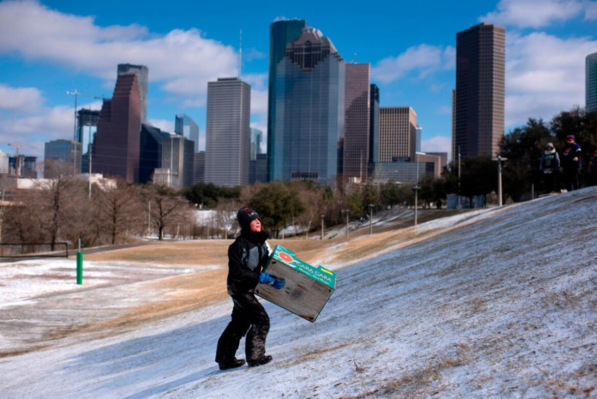 Houston's lit-up skyline angers residents hit by winter storm power cuts