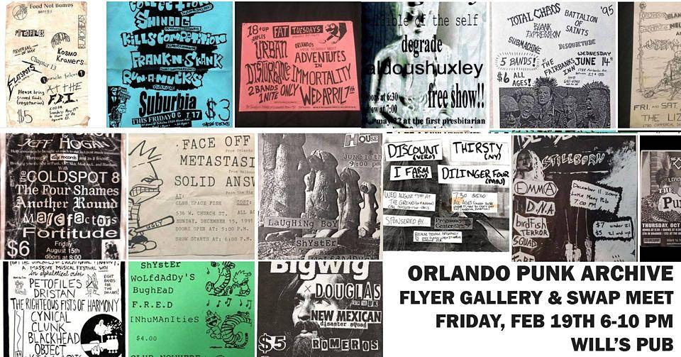 Will's Pub hosting gallery of punk flyers and swap meet this month