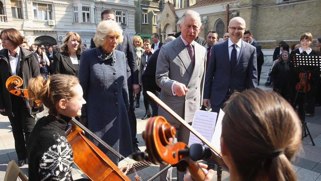 Charles recalls fond memories of playing in an orchestra
