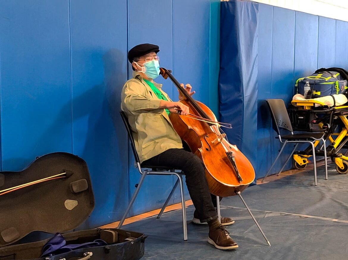 Yo-Yo Ma gives surprise cello performance at vaccine centre after receiving his jab