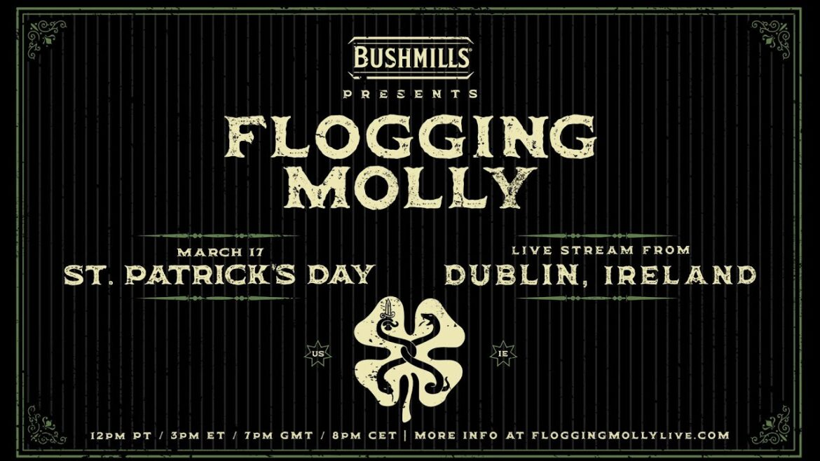 Flogging Molly Playing St. Patrick's Day Live Stream from a Pub in Dublin
