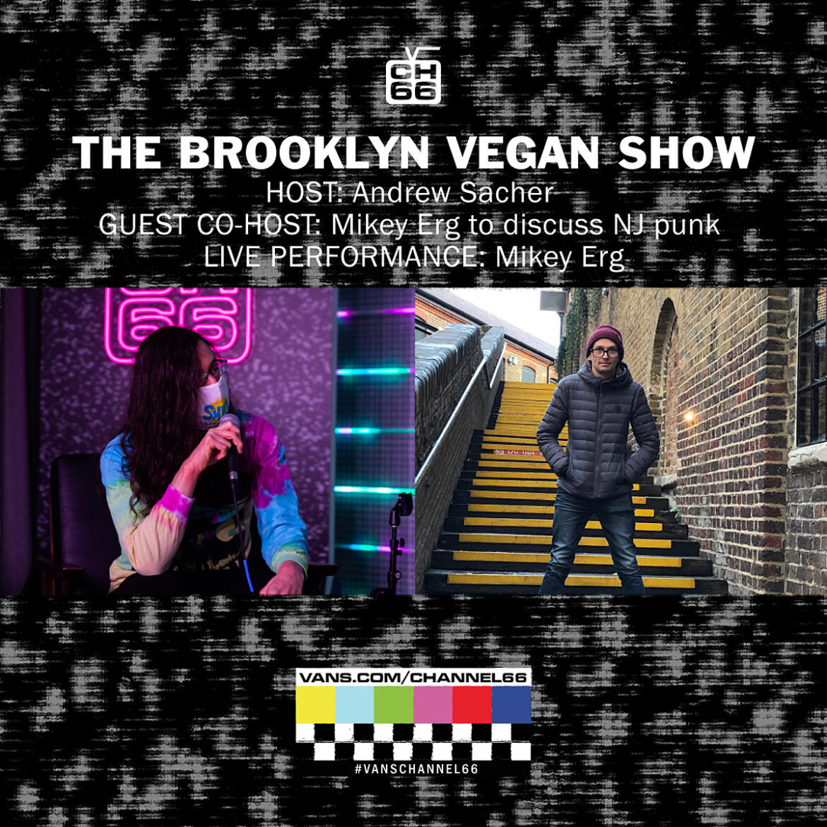 Mikey Erg performing & chatting about NJ punk on The BrooklynVegan Show this week