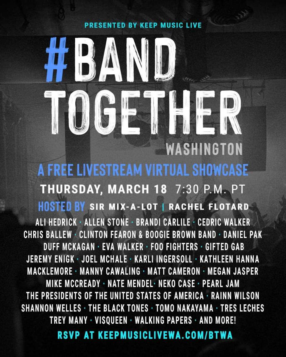 Want Capitol Hill's music clubs to reopen? 'Band Together' Thursday night