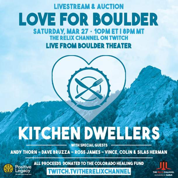 Kitchen Dwellers 'Love For Boulder' livestream benefit tonight